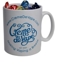 Crème de Vape Mug full of toffees