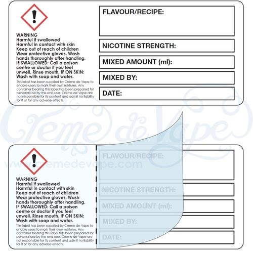 Self-laminating labels 9x4cm - 20pk