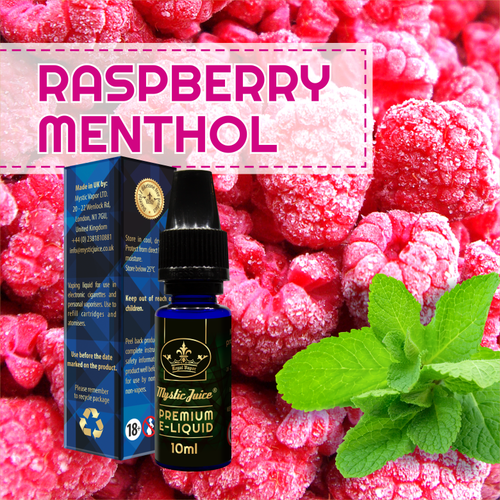 Raspberry Menthol by Mystic - 10ml