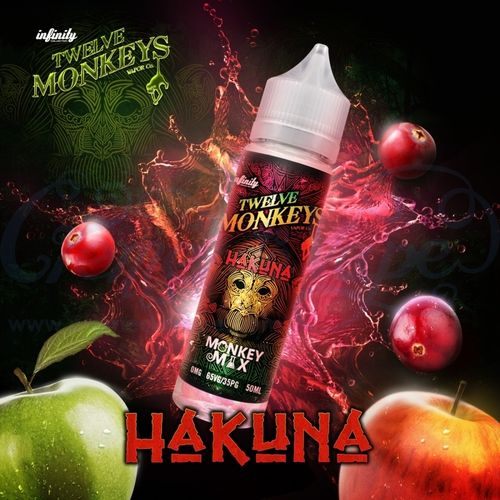 Hakuna by Twelve Monkeys - 50ml Shortfill