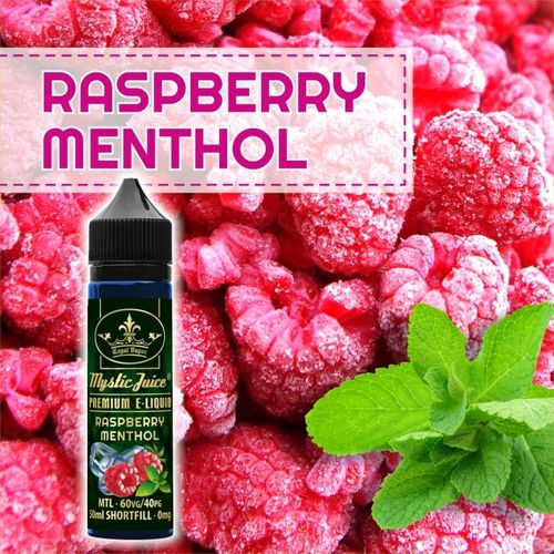 Raspberry Menthol by Mystic - 50ml Shortfill