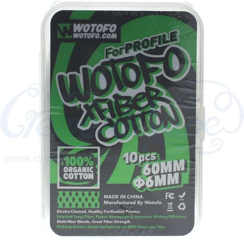Wotofo Agleted cotton wick - 10pk - 6mm (Xfiber)