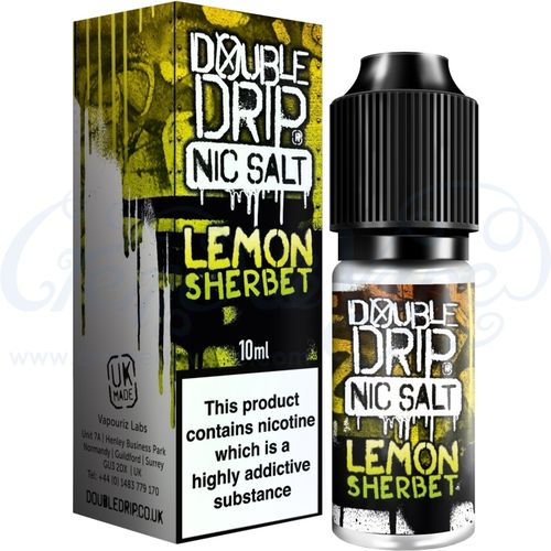Lemon Sherbet Nic Salt by Double Drip - 10ml