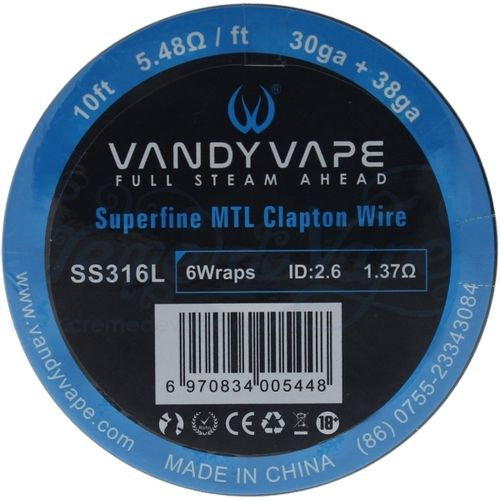 Vandy Vape Superfine MTL Clapton Wire