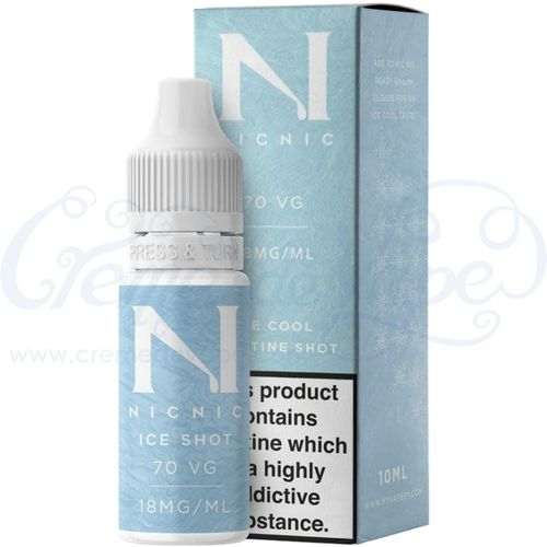 Nic Nic Flavourless 70VG 18mg Nicotine Ice Shot