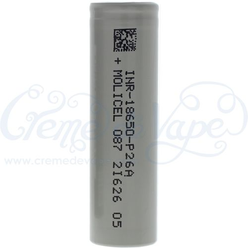 Molicel P26A 18650 2600mAh battery