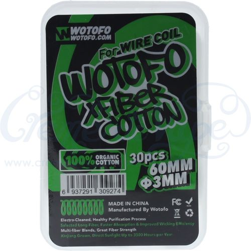 Wotofo Agleted cotton wick - 30pk - 3mm