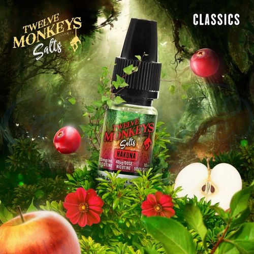 Hakuna Nic Salt by Twelve Monkeys - 10ml