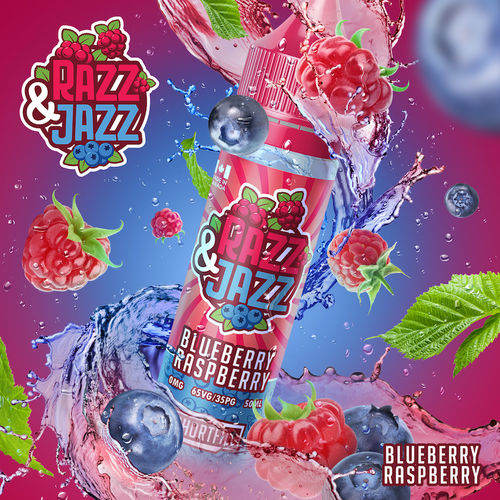 Blue Raspberry by Razz & Jazz - 50ml Shortfill